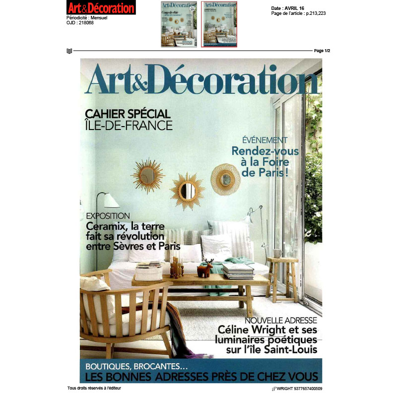 Art & Décoration - Avril 2016